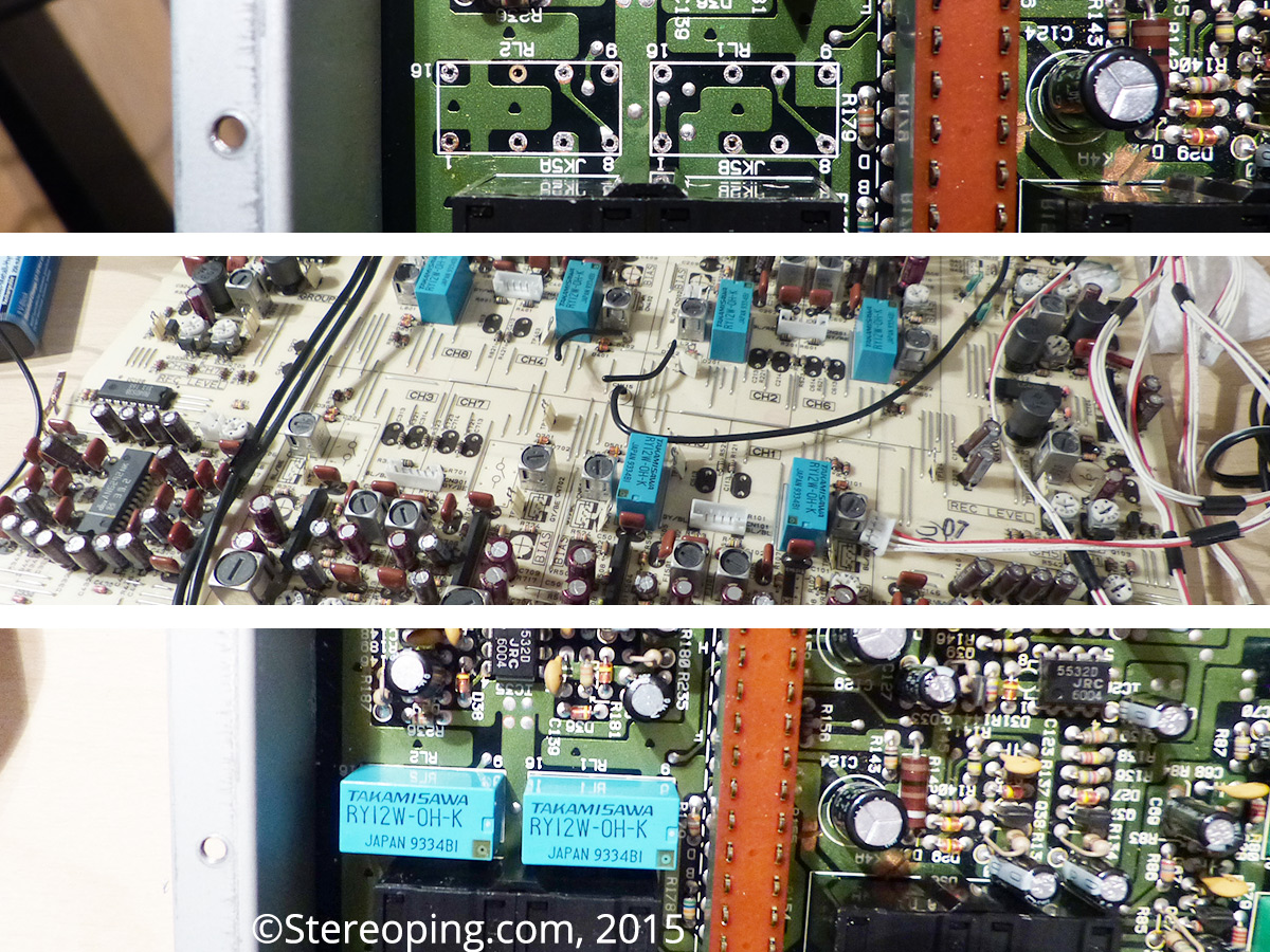 Roland DEP-5 bypass relay repair – Stereoping Music Devices