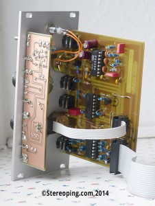 Stereoping Deluxe Delay Protoype 1 - PCB view - 02/2014