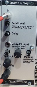 Frontpanel of the Stereoping Sparta Delay