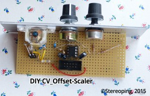 DIY CV-Offset-Scaler Top view
