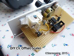 DIY CV-Offset-Scaler VU-meter detail