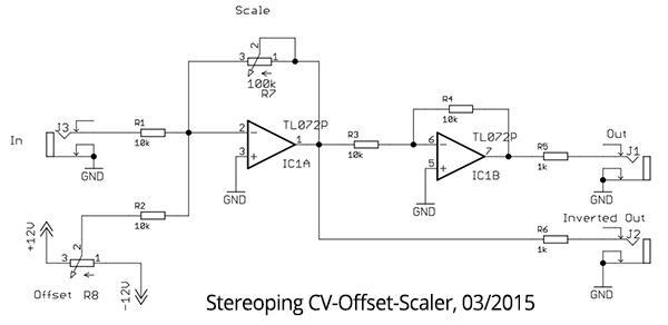 DIY CV-Offset-Scaler Schematic