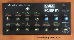 colorcoded Parameters of the K3m-controller