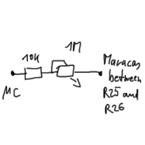 Scheme to connect µController-pin with ER-9 triggerpoint for Maracas