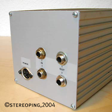 Stereo Lowcost Opto Compressor backview